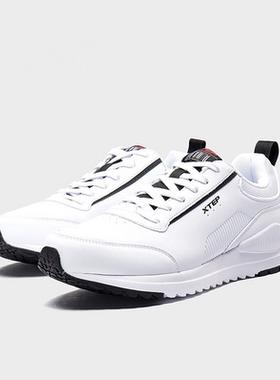 特步男鞋运动鞋2019冬季新款跑步鞋皮面保暖男休闲鞋981419320068