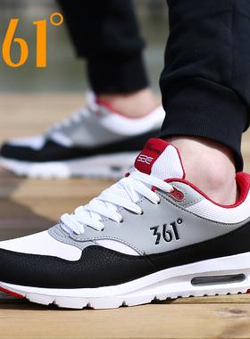 361男鞋秋冬季气垫运动鞋子361度男士网面透气休闲跑步鞋旅游鞋潮