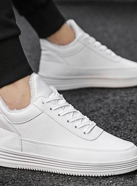 小白鞋男鞋子2019秋季新款韩版潮鞋板鞋男士休闲白鞋百搭帆布冬季