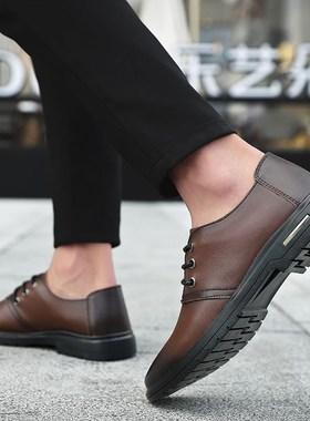 2019年秋季冬季新款皮鞋时装鞋男鞋保暖防滑男士休闲时尚潮流韩版