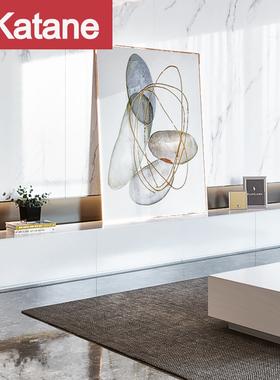 电视柜茶几组合现代简约轻奢客厅背景墙北欧小户型烤漆时尚家具套