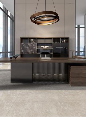 组装老板桌新款主管时尚总裁经理办公桌电脑桌创意大班台家具组合