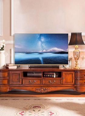美式电视柜全实木茶几组合小户型客厅卧室欧式家用家具地柜机简约