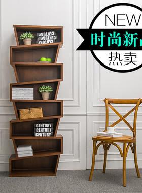 订制个性书柜置物架简约现代展示柜架书架组合家具创意概念隔板架