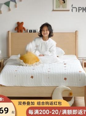泡沫小敏家具北欧硬枫木儿童床1.2米实木床男孩女孩儿童房单人床