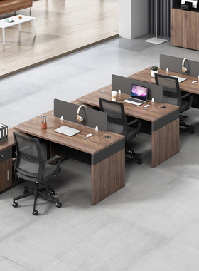 办公桌椅组合4人职员工位卡座f型F三2四t双人T财务办公室桌子家具