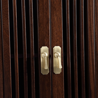 收藏式w组黑檀落柜带柜架家具全书实书合门中大木组木地合新书纳