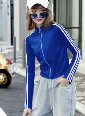 秋冬短外套女2021新款潮ins春季女装宽松韩版棒球服短款运动上衣