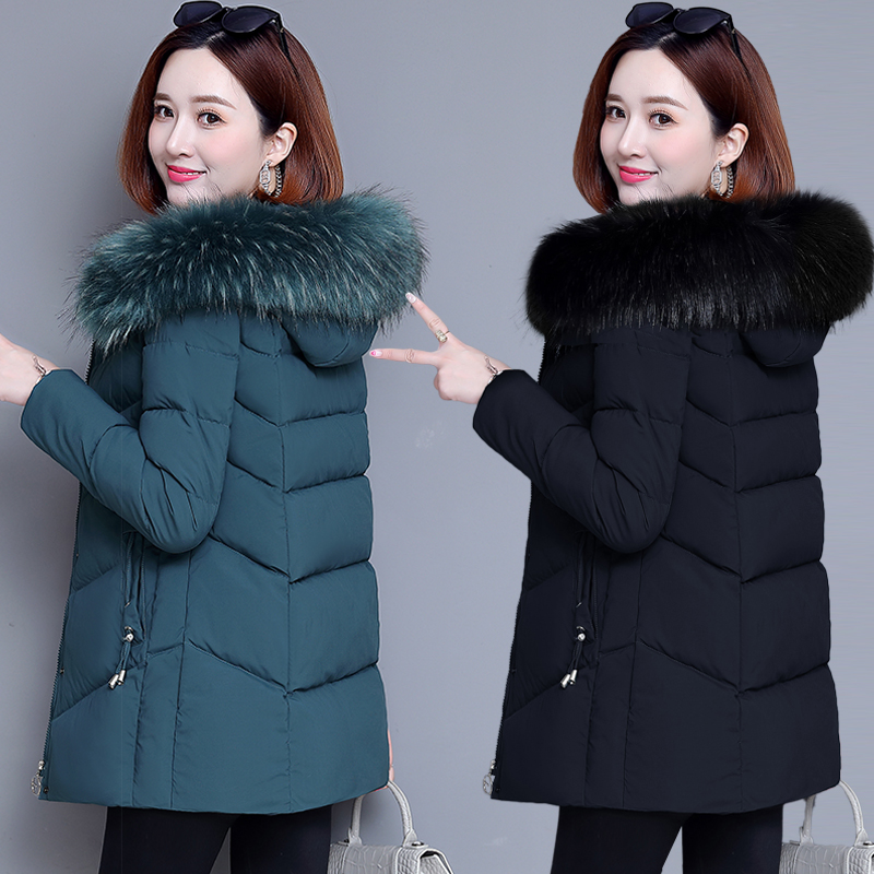 棉袄外套羽绒棉服女短款2021年冬装新款中年妈妈装中长款加厚棉衣