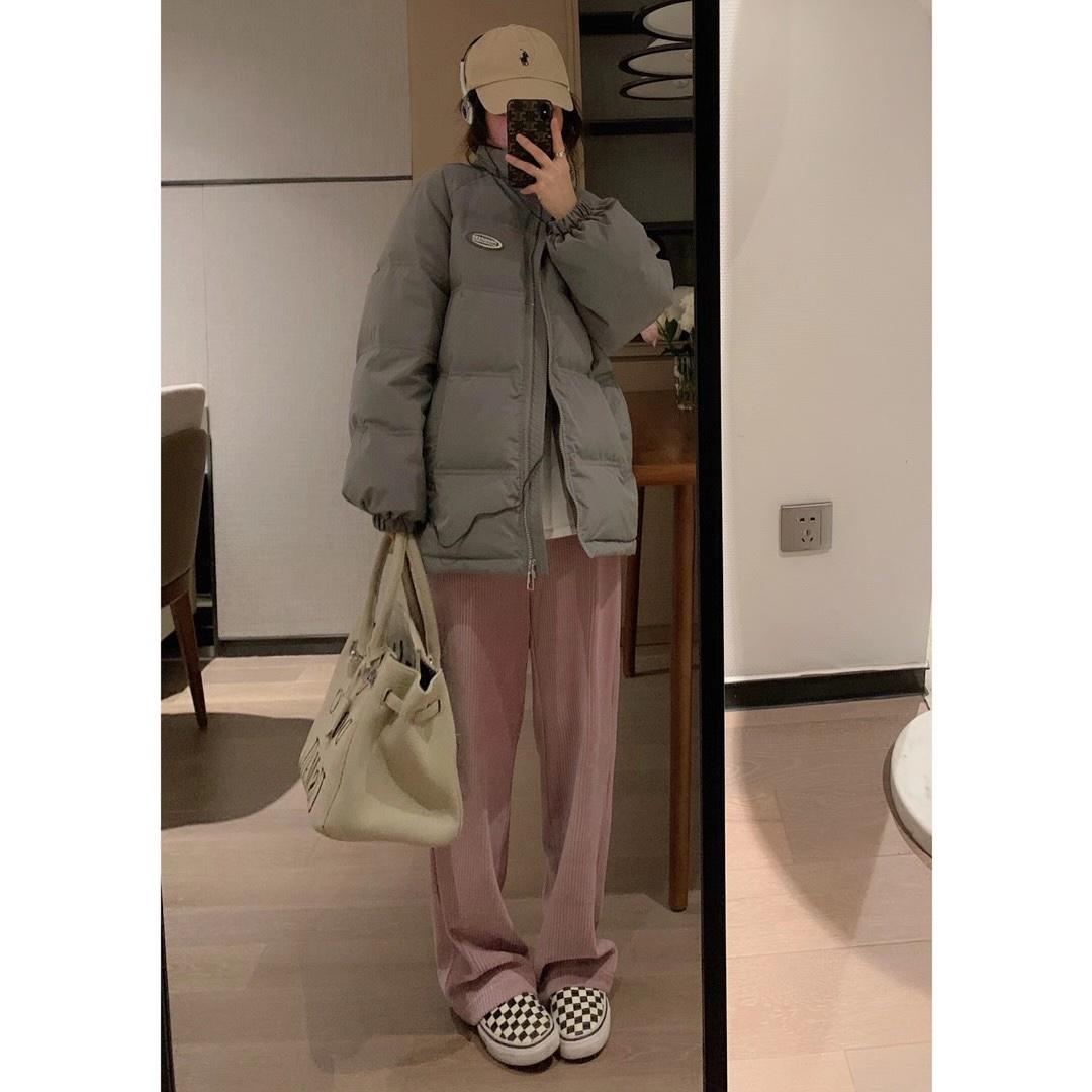 VEEE 韩版羽绒服女小个子2020年冬新款外套加厚短款宽松面包服潮
