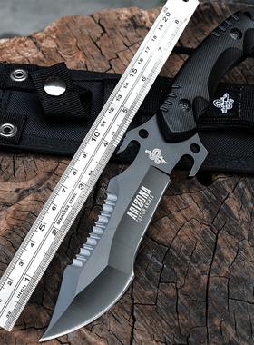 刀具 防身 冷兵器锋利特种兵刀户外军工刀氚气刀随身直刀军刀开刃