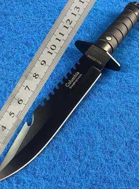 龙泉防身刀具户外军刀短求生存随身弯刀野直刀冷器野外安氚气开刃