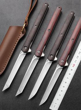 刀具防身小刀户外军工刀神笔折刀冷兵器便携水果刀随身锋利折叠刀