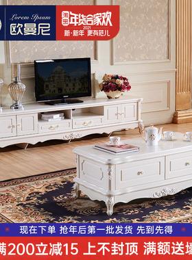 欧式茶几电视柜 现代简约小户型迷你地柜卧室 客厅家具套装组合