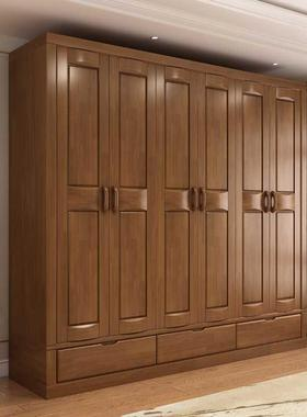 中式全套卧室家具床衣柜组合套装主卧实木六件套整套全屋婚房成套