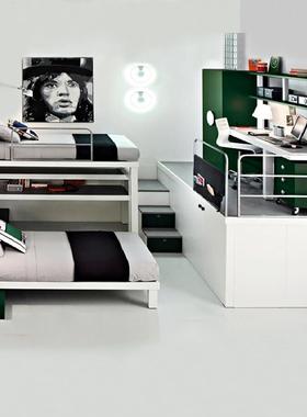 北岸定制儿童上下床高低床定制双层床子母床书桌衣柜组合卧室家具