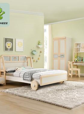 兔宝宝儿童套房儿童床书桌学习桌椅衣柜卧室组合家具儿童成套家具