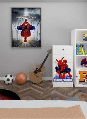 创意儿童家具卡通漫威英雄床电视柜书桌衣柜组合全套男孩卧室全套