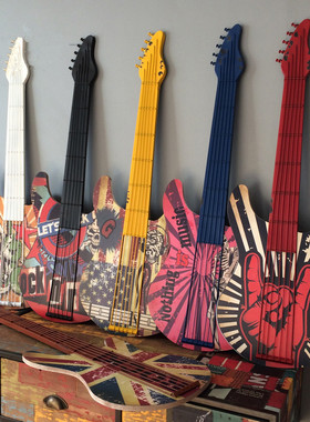 铁艺吉他墙饰创意墙面装饰居家装饰品咖啡厅墙上壁饰酒吧墙壁挂件