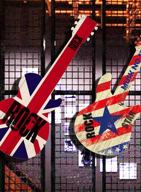 创意吉他墙饰墙面复古装饰居家装饰品咖啡厅墙上壁饰酒吧墙壁挂件