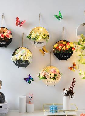 墙面家装饰品挂件客厅餐桌创意饭厅墙壁挂饰卧室电视背景墙上花盆