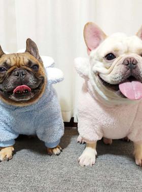 法斗巴哥衣服柴犬胖狗加厚服饰宠物狗斗牛加绒保暖带帽卫衣秋冬装