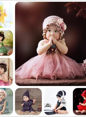 新款儿童半岁婴儿宝宝摄影服装百天周岁影楼艺术拍照主题写真服饰