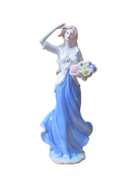 欧式家居装饰品 人物摆件 陶瓷工艺品结婚礼物家饰摆设西洋女摆件