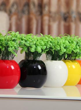 多肉花盆现代家居装饰时尚陶瓷工艺品创意家饰客厅小摆件花插花瓶