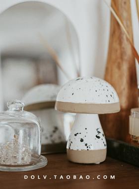 DOLV 豆绿 北欧手工莫兰迪陶瓷花瓶摆件民宿风原生质感家居家饰