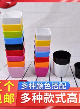 5个包邮塑料小花盆  桌摆装饰 客厅 藤编花瓶 田园风 家饰家装