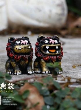 狮三百招福开运伴手礼镇宅纪念品小礼物狮子摆件国庆节居家饰品