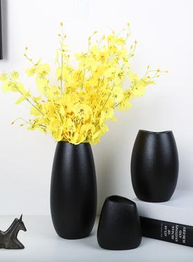 陶瓷餐桌装饰花瓶简约软装家居家饰样品房干鲜花花器插花软装饰