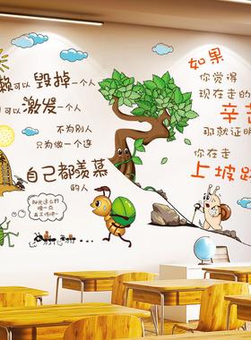 励志墙贴纸学习标语激励文字班级教室文化墙布置房间学生装饰海报