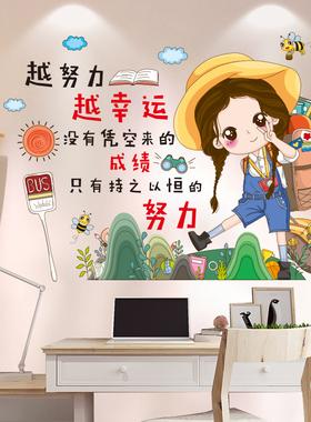 书桌儿童房间卧室床头布置励志墙贴纸自粘装饰背景墙壁纸墙面贴画