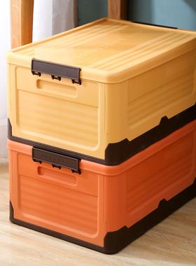 可折叠书籍收纳家用塑料书箱车载整理箱学生书本教室宿舍储物箱子