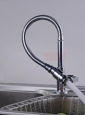 家用厨房单冷万向水龙头全铜自来水洗菜盆阳台洗衣板水槽卫浴龙头