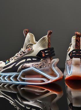 篮球运动鞋男球鞋夏季透气刀锋空军一号aj高帮男鞋国潮官网蒲田鞋