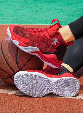 aj篮球鞋正品官网韩版运动男鞋秋季2021新款透气高帮青少年运动鞋