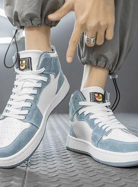 aj男鞋2021年新款高帮板鞋夏季透气莆田官网空军一号运动休闲潮鞋