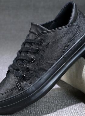 皮鞋休闲鞋男士鞋子二棉鞋2021新款冬季保暖加绒板鞋潮流秋季男鞋