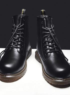 马丁靴男鞋高帮英伦风韩版潮流百搭工装靴子厚底皮靴秋季冬季棉鞋
