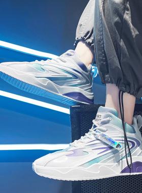 2021新款男鞋秋冬季高帮小白板鞋潮流休闲运动篮球老爹潮鞋马丁靴