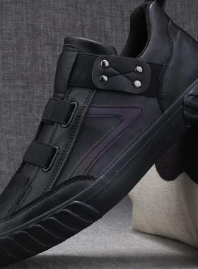潮流休闲鞋男士皮鞋百搭鞋子春秋款男鞋2021新款冬季加绒保暖棉鞋