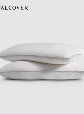 罗卡芙家纺舒适健康羽丝绒枕芯单个装超细纤维枕头 1对需买2个