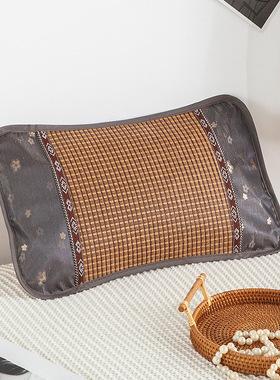 包邮夏季凉枕 茶叶保健学生枕 双面安眠健康冰丝竹藤枕头 茶香枕