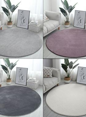 欧式圆形儿童书房地毯圆型加厚客厅茶几卧室床边可爱吊篮电脑椅垫