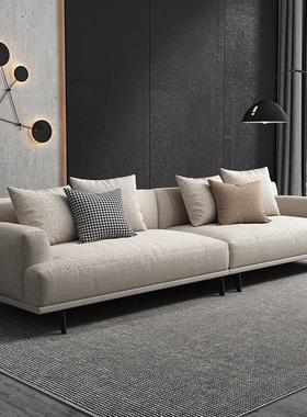 北欧布艺沙发客厅组合转角小户型可拆洗科技布乳胶简约现代沙发