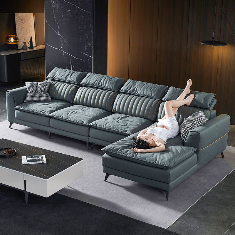 科技布沙发轻奢转角贵妃组合现代简约小户型客厅北欧L型布艺乳胶