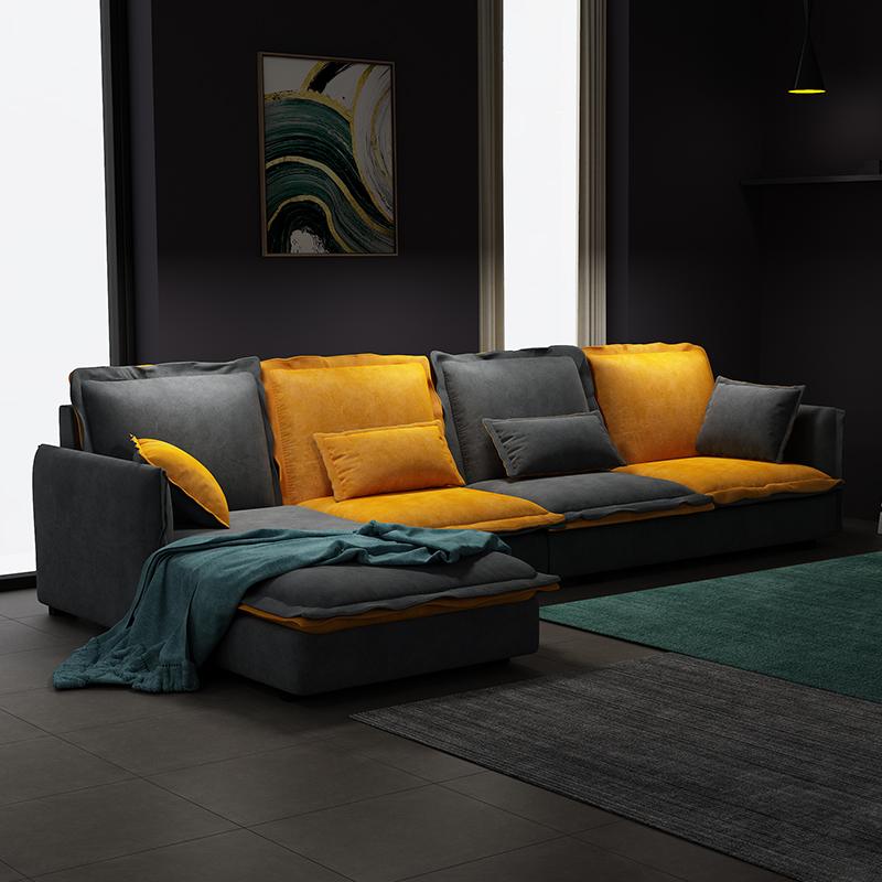 北欧布艺沙发现代简约乳胶客厅整装可拆洗大小户型转角组合123位